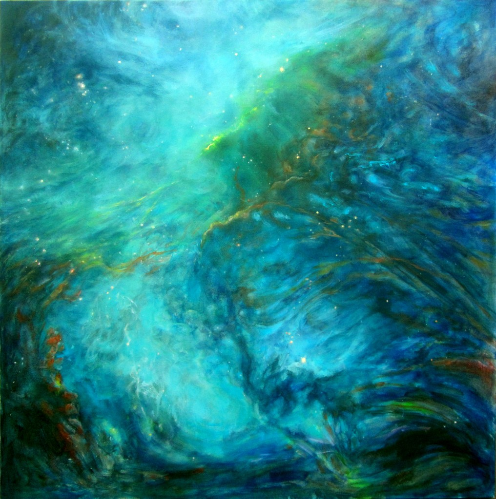 Inner Galactic Creation Oil on Canvas 48 x 48 in.