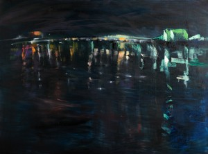 Midnight on the Danube #2 Oil on Canvas 30 x 40 in.