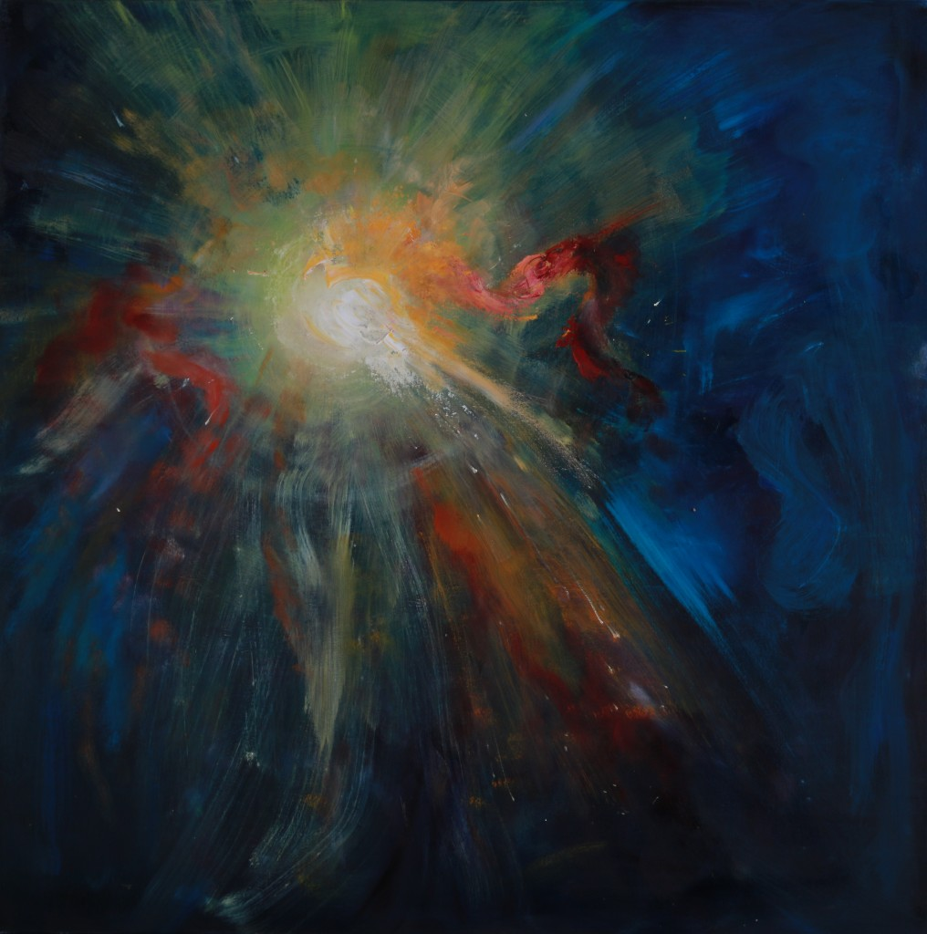 Nebula Series All is Bright Oil on Canvas 24 x 30 in.