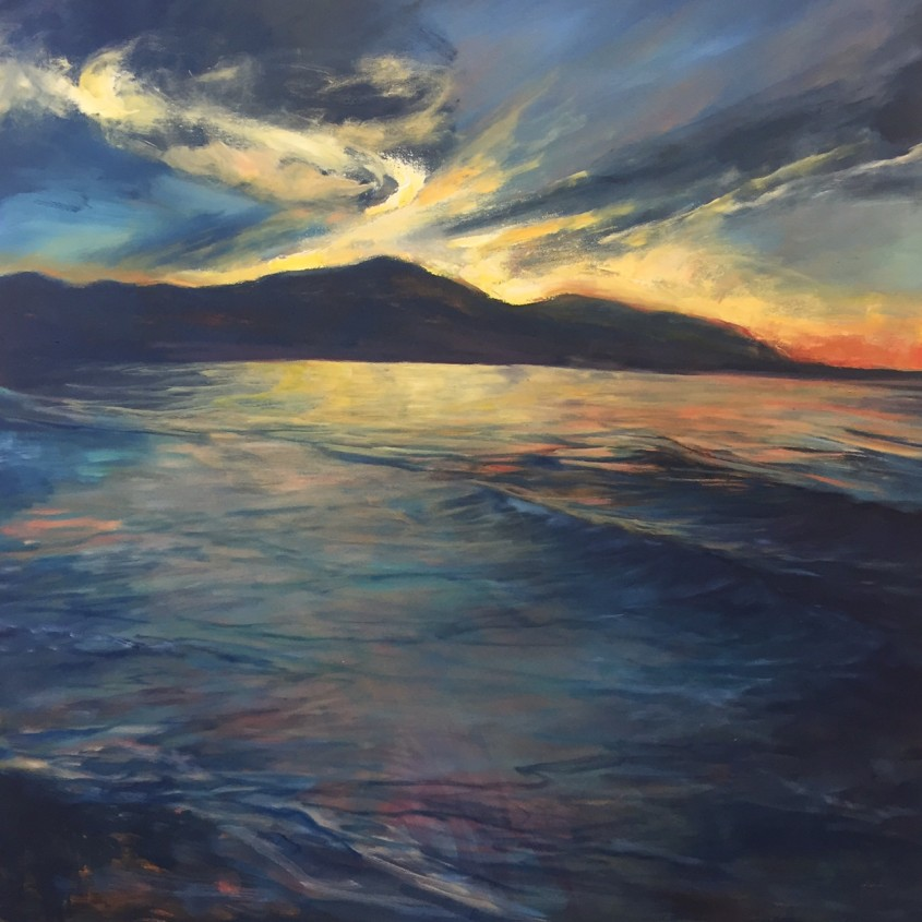 Faria Sunrise 48x48 in Oil on Canvas